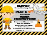 Under Construction Birthday Invitations Under Construction Party Lynlee 39 S