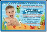 Under the Sea 1st Birthday Invitations Under the Sea 1st Birthday Invitations for Boys Di 362