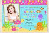 Under the Sea 1st Birthday Invitations Under the Sea Birthday Invitations