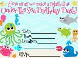 Under the Sea Birthday Invitations Printable Create Under the Sea Birthday Invitations Natalies