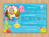 Under the Sea Birthday Invitations Printable Girl Under the Sea Birthday Invitation Diy Custom Printable