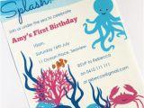 Under the Sea Birthday Invitations Printable Ocean Under the Sea Invitation Printable Personalised