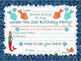 Under the Sea Birthday Invitations Printable Under the Sea Birthday Invitations Ideas Bagvania Free