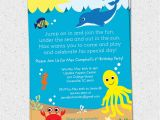 Under the Sea Birthday Invitations Printable Under the Sea Birthday Party Invitation Printable Boy or