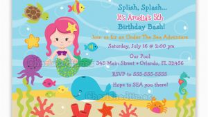 Under the Sea Birthday Invites Under the Sea Birthday Invitation Choose Mermaid You Print