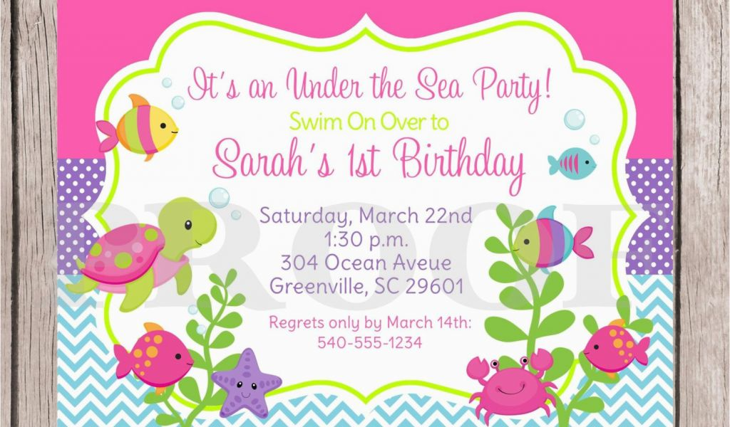 Download By SizeHandphone Tablet Desktop Original Size Back To Under The Sea Birthday Party Invitations Free Printable