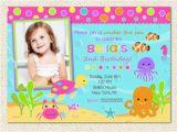 Under the Sea First Birthday Invitations Under the Sea Birthday Invitations