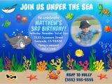 Underwater Birthday Invitations Digital Underwater Birthday Invite Underwater by Shopmyinvites