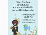 Underwater Birthday Invitations Kid 39 S Underwater theme Birthday Party Invitation Zazzle