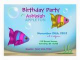 Underwater Birthday Invitations Underwater Fish Kids Birthday Party Invitations 5 Quot X 7