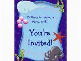 Underwater Birthday Invitations Underwater Sea Marine Birthday Party Invitation Zazzle