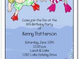 Underwater Birthday Invitations Underwater Swim Kids Party Invitations Swim Party Invitations
