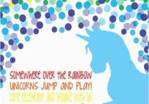 Unicorn Birthday Invitation Wording Rainbow Girls Party