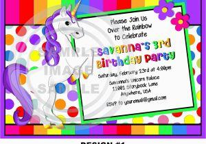 Unicorn Birthday Invitation Wording Party Invitations Cimvitation