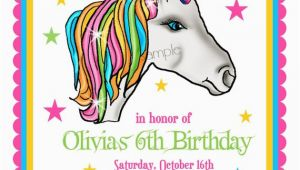 Unicorn Birthday Invitation Wording Unicorn Invitations Unicorn Birthday Party Invitations