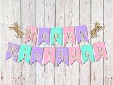Unicorn Happy Birthday Banner Diy Etsy Product Reagans Poop Party Pinterest Birthday