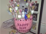 Unique 21st Birthday Gifts for Her 25 Best Ideas About Mini Alcohol Bouquet On Pinterest