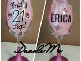 Unique 21st Birthday Gifts for Her Unique 21st Birthday Gift Finally Legal Oversized Glittered