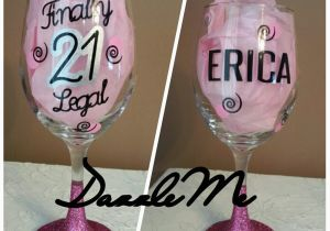 Unique 21st Birthday Gifts For Her Gift Finally Legal Oversized Glittered