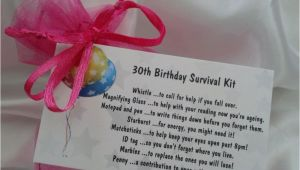 Unique 30th Birthday Gifts for Her 30th Birthday Gift Survival Kit Keepsake Card Novelty