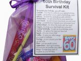 Unique 60th Birthday Gift for Man 60th Birthday Gift Unique Novelty Survival Kit 60th