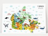 Unique Birthday Gifts for Him Canada Map Of Canada for Kids Poster Unique Baby Gift