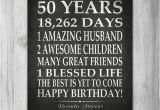 Unique Birthday Gifts for Him Turning 50 50th Birthday Party Gift Personalized 50 Birthday Print