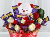 Unique Birthday Gifts that Can Be Delivered Special Surprise Arrangement Gift Hamper Of Chocolates