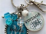 Unique Gifts for Manu0027s 50th Birthday 50th Birthday Gift Keychain Vintage Personalized Name by
