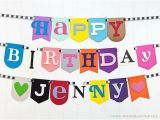 Unique Happy Birthday Banners Items Similar to Hodge Podge Birthday Banner Unique