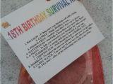 Unusual 18th Birthday Presents for Him 18th Birthday Survival Kit Fun Unusual Novelty Present