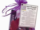 Unusual 60th Birthday Gifts for Her 60th Birthday Gift Unique Novelty Survival Kit Great