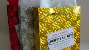 Unusual 60th Birthday Presents Male Male 60th Birthday Survival Kit Humorous Gift Idea Unique