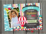 Up Up and Away Birthday Invitations Up Up and Away Birthday Invitation Hot Air Balloon Birthday