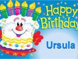 Ursula Birthday Card Happy Birthday Ursula Happy Birthday