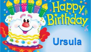 Ursula Birthday Card Happy Birthday Ursula Happy Birthday