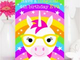 Ursula Birthday Card Unicorn Birthday Card Ursula the Unicorn Colour their Day