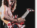 Van Halen Birthday Card Eddie Van Halen Drawing by Kenneth Williams