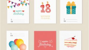 Variety Birthday Cards Variety Of Birthday Cards Vector Free Download
