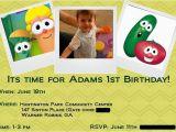 Veggie Tales Birthday Invitations A Very Veggie Tales First Birthday Singing Through the Rain