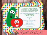 Veggie Tales Birthday Invitations Invitation Veggie Tales Pinterest