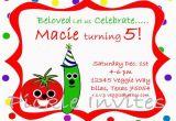 Veggie Tales Birthday Invitations Items Similar to Veggie Tales Inspired Birthday Invitation