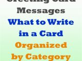 Verses to Write In Birthday Cards Greeting Card Messages Examples Of What to Write
