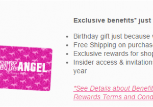 Victoria S Secret Angel Card Birthday Gift 39 Credit Review Comenity