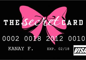 Victoria S Secret Angel Card Birthday Gift Credit Info