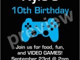 Video Game Birthday Party Invitation Template Free Game On Video Game Invitation Select Color Personalized