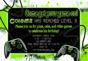 Video Game Birthday Party Invitation Template Free Templates Invitations