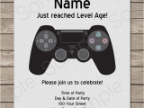 Video Game Birthday Party Invitation Template Free Playstation Party Invitations Template Video Game Party