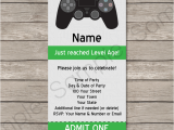 Video Game Birthday Party Invitation Template Free Playstation Party Ticket Invitation Template Video Game