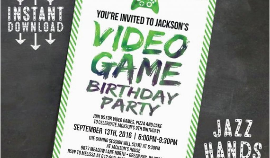 image relating to Free Printable Video Game Party Invitations named Online video Sport Birthday Get together Invitation Template Totally free Printable